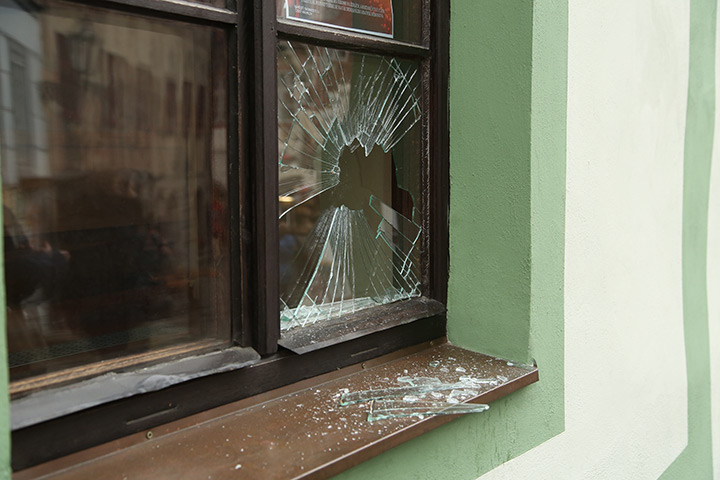 A2B Glass are able to board up broken windows while they are being repaired in Little Heath.
